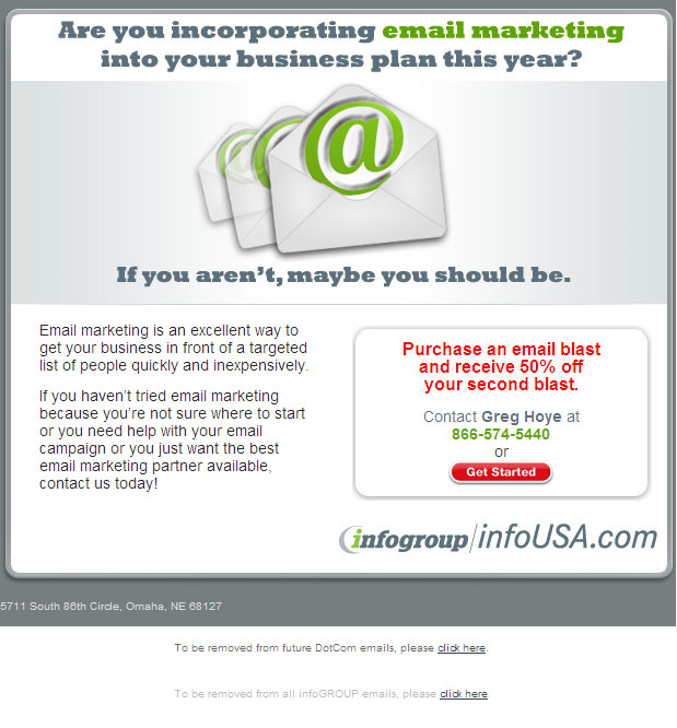 Email Blast? Really?